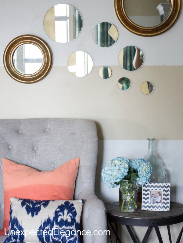 EASY DESIGNER DECOR | DIY Gold Geometric Mirrors ...