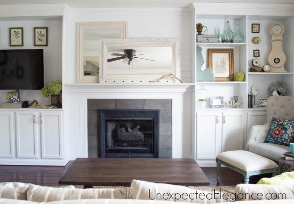 See How To Transform You Your Living Room With DIY Fireplace Built Ins! It