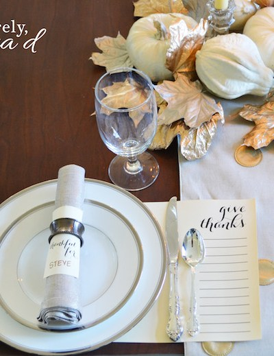 FREE Thanksgiving Printable | Give Thanks Placemat