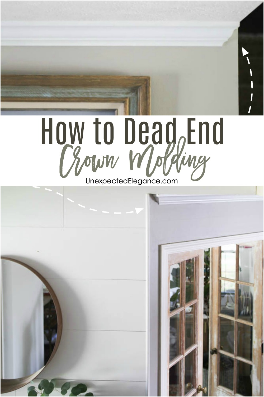How to Dead End Crown Molding - Unexpected Elegance