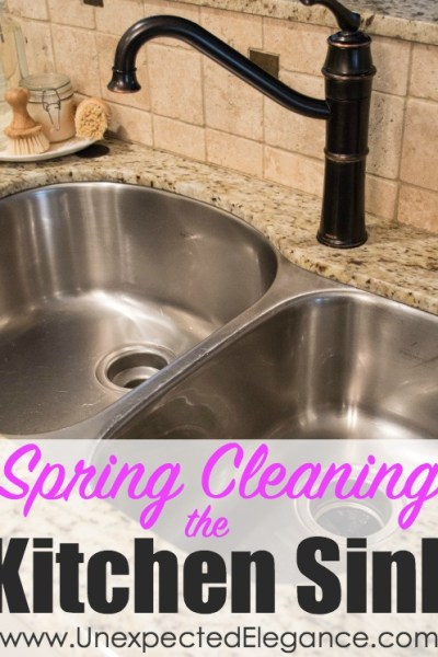 Spring Cleaning and Repair | Kitchen Sink