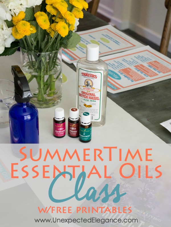 Are you ready for summer!?  Check out all the great summertime essential oils to use this year and get FREE printable for yourself or to host a fun class.