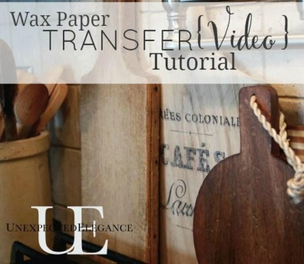 Wax-Paper-Image-Transfer-VIDEO Tutorial