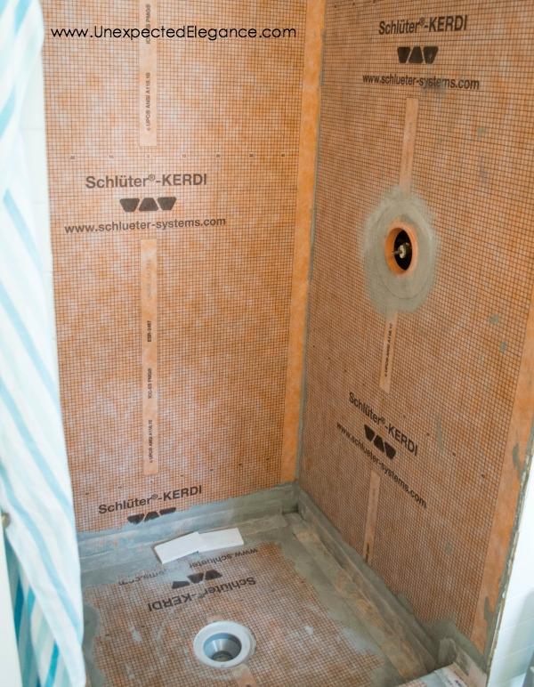 Superb shower remodel with Schluter system
