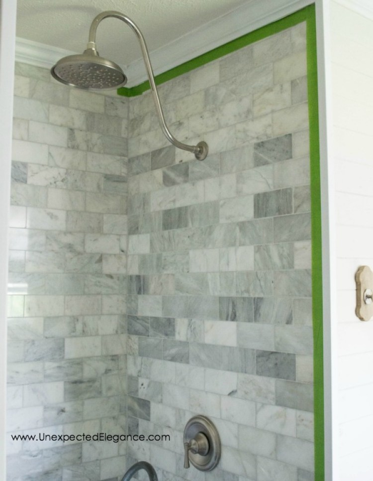 Inexpensive Tricks to give your Tiled Shower a Custom Look