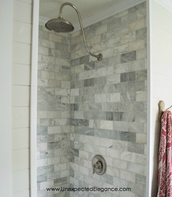 4 INEXPENSIVE Tricks to Give Your Tiled Shower A Custom Look ...