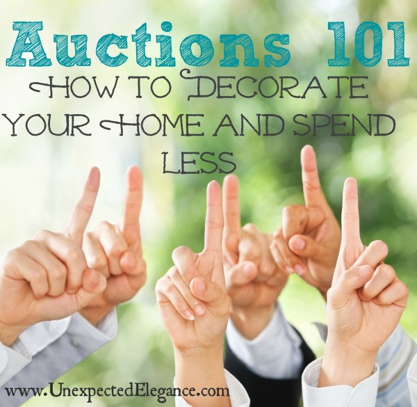 Learn How to Decorate Your Home and Spend Less by going to auctions.  Find out the different types of auctions and what to look for at each.  GREAT TIPS for a first-timer!