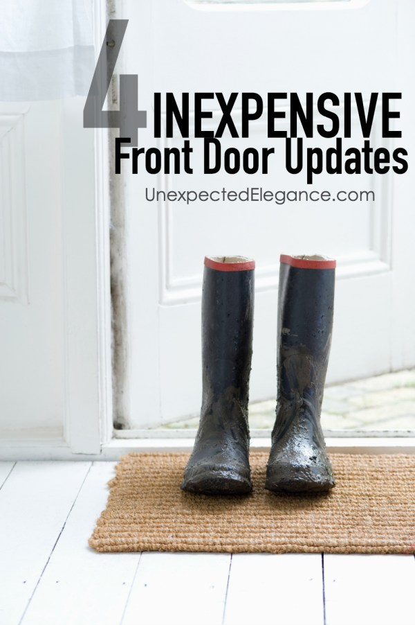 Your front door is the first thing people see when they walk up to your house, and is so important when it comes to curb appeal. Check out these inexpensive front door updates!