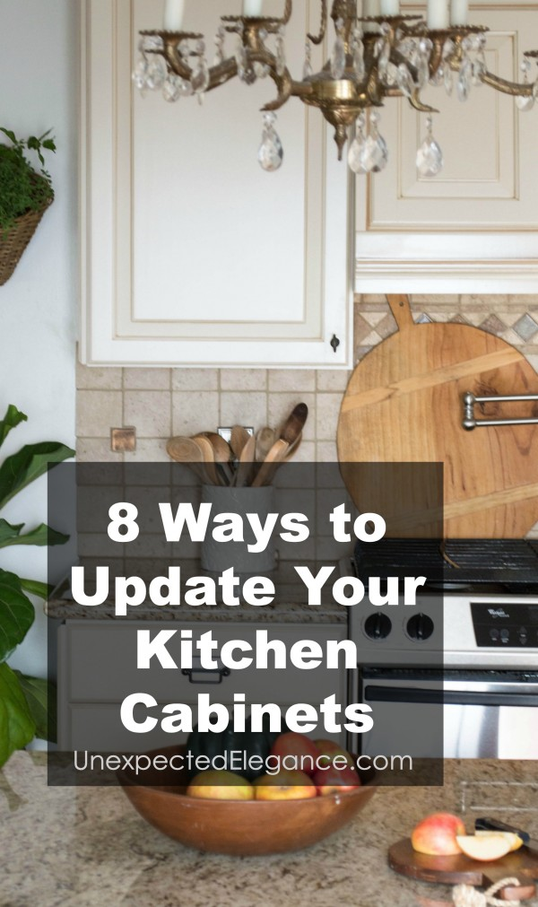 Does your kitchen need an update, but you can't afford to ripe out the cabinets? Check out these 8 ways to update kitchen cabinets without spending a fortune!