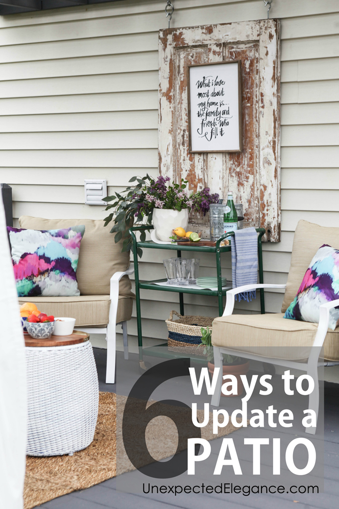 6 ways to update a patio copy