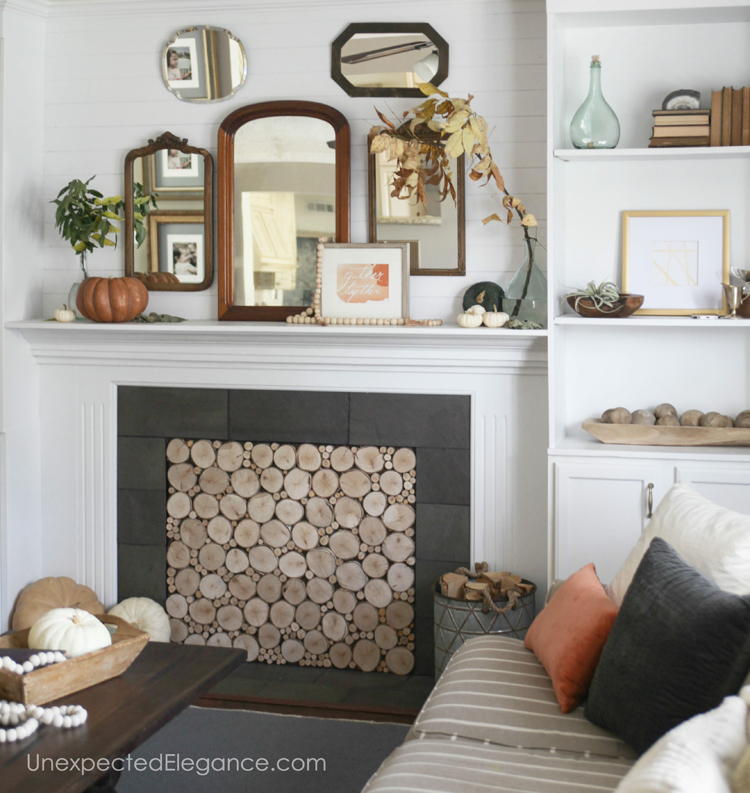 Want a beautiful mantel, but need some ideas?!? Get some inspiration from one blogger who used natural elements to bring in the season.