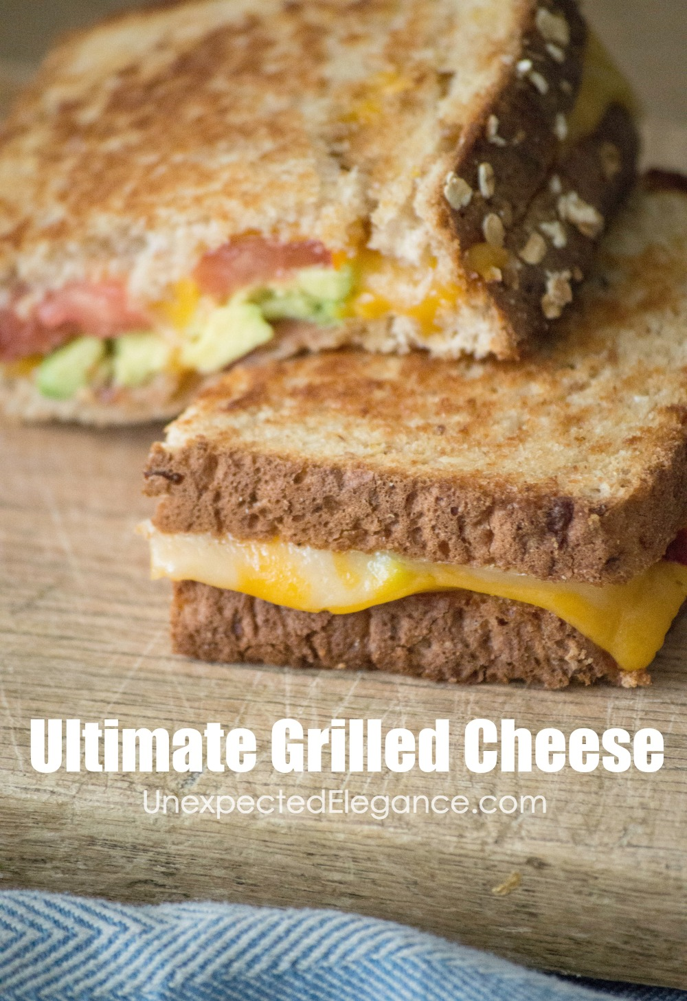 A super easy and fun take on the traditional grilled cheese sandwich! Step by step instructions for how to assemble this delicious ULTIMATE GRILLED CHEESE!!
