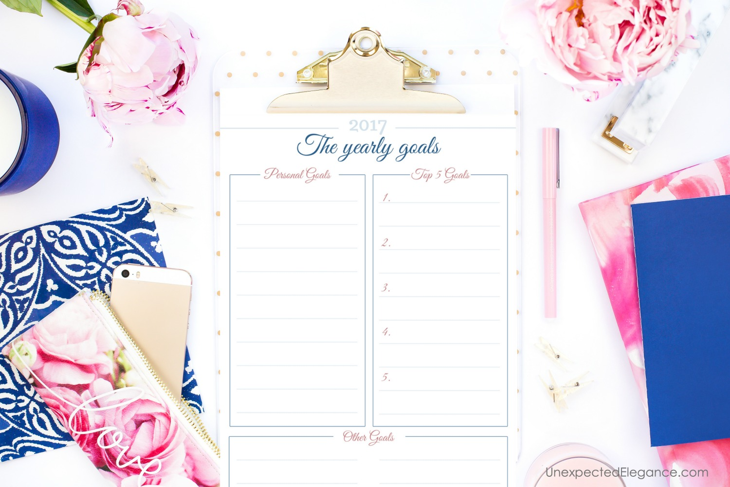 Plan for your best year yet! Get some tips for how to stick to your goals and download a FREE 2017 planner to keep track of everything.