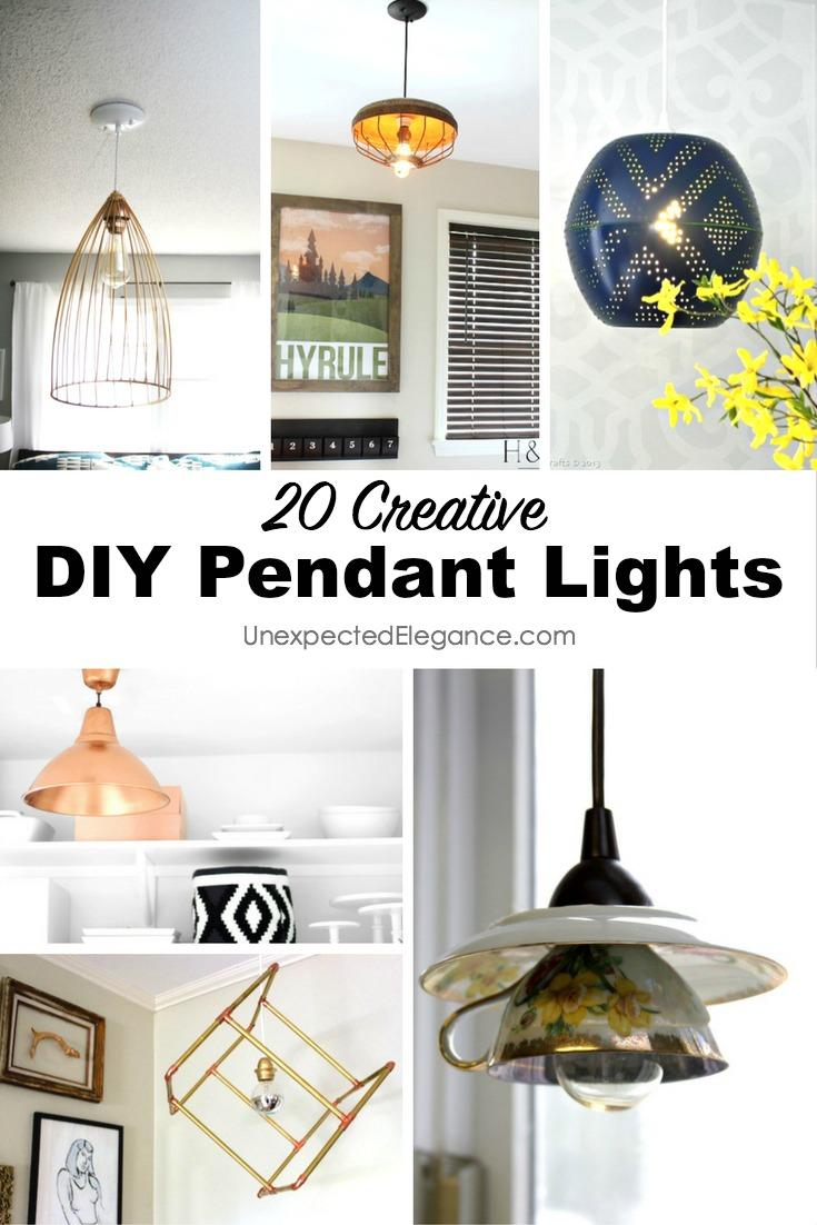 20 Unique Diy Wind Chimes: 20 DIY Pendant Lights
