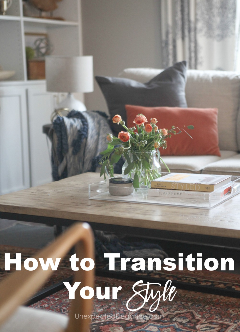 Get some tips and tricks for how to transition your style when your taste has changed. Practical ways to spend less and get the look you want.