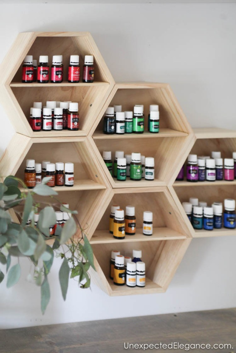 This is a pretty storage solution for housing all your essential oils!!