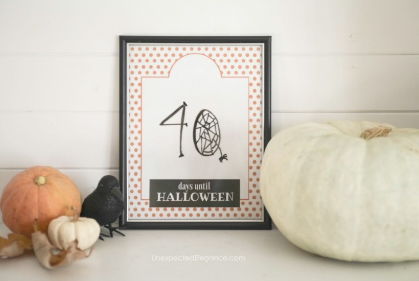 This Halloween Countdown Printable is a fun way to create anticipation up until the big day! Download it today and update daily.