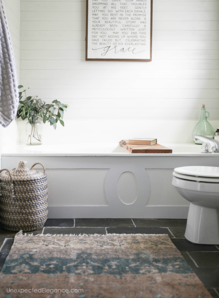 Check out these simple ways to update your bathroom on a budget.
