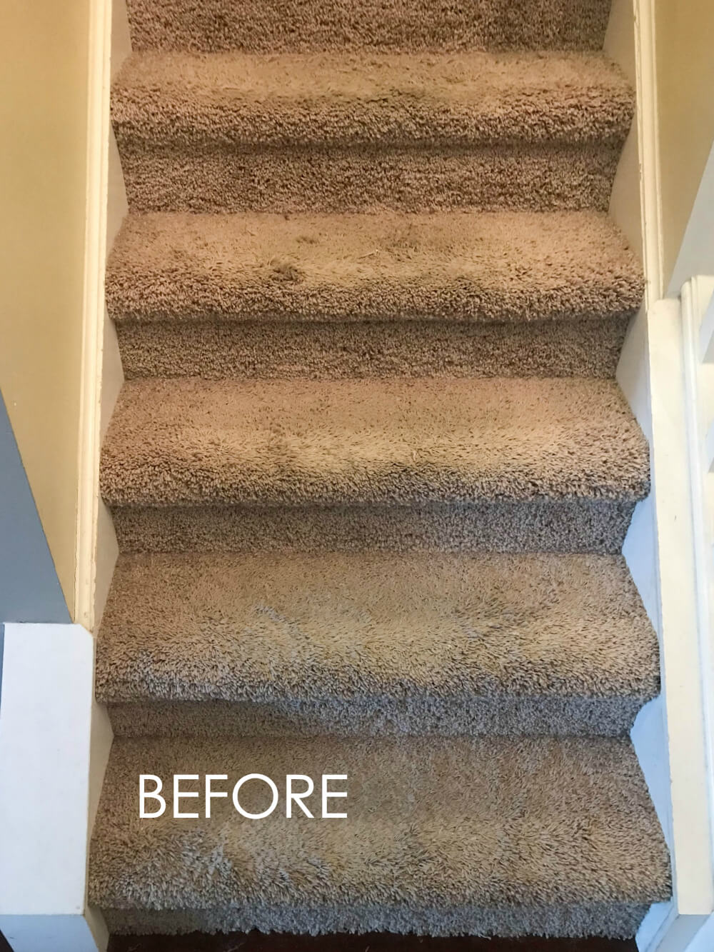 How To Replace Carpet With An Inexpensive Stair Runner For Around 100