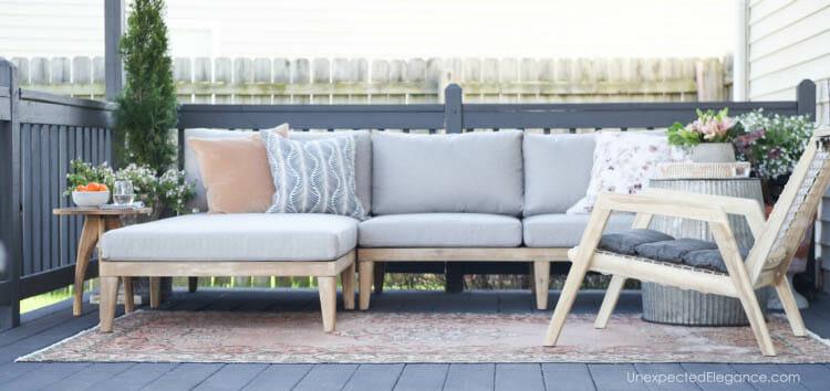 Spring outdoor patio update!  #outdoordecor
