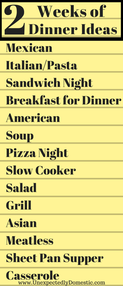 easy dinner ideas