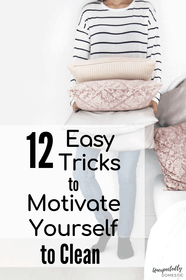 12 cleaning motivation tricks for how to get motivated to clean. Even if you're depressed or overwhelmed by the mess, you can clean your house in one day!