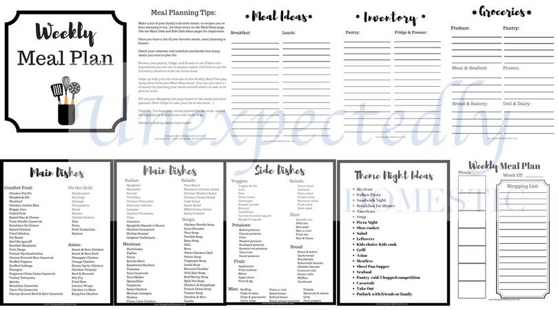 graphic regarding Meal Planning Sheets identified as No cost Weekly Dinner Building Printables: How In the direction of Crank out Your Individual