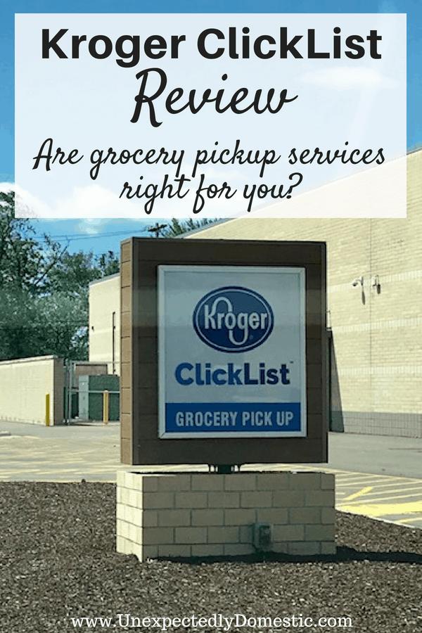 how Kroger ClickList works