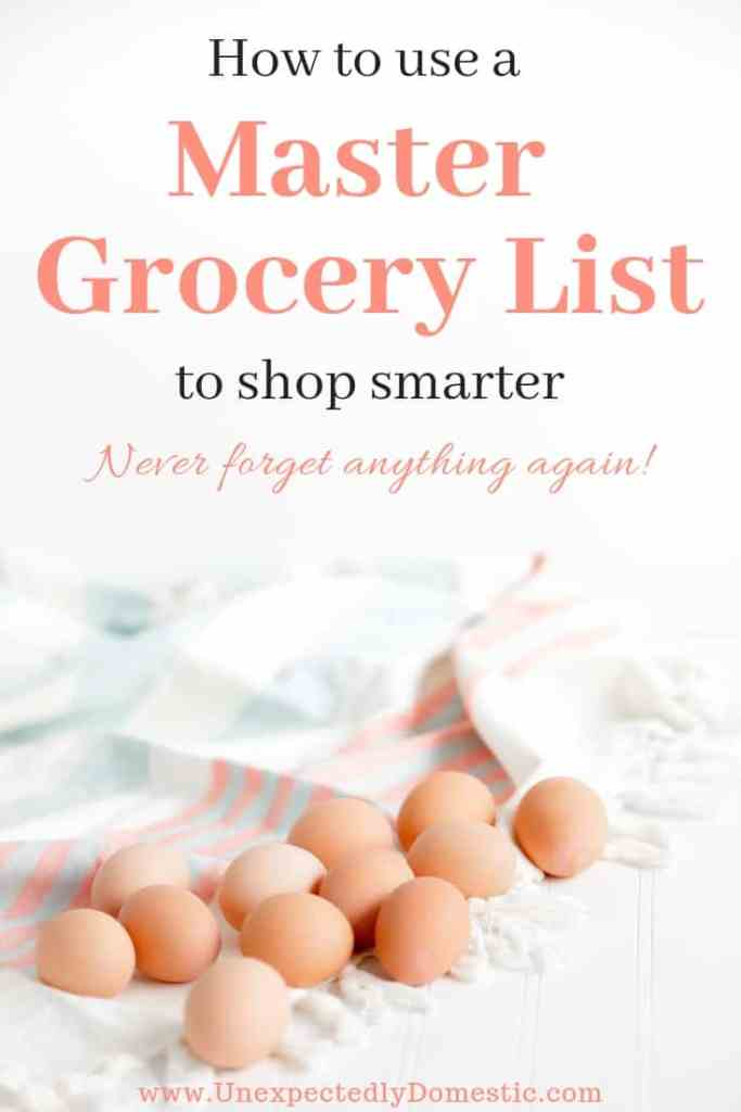Learn how a master grocery list template can save you time at the store. Never forget anything again with this free printable master grocery list.