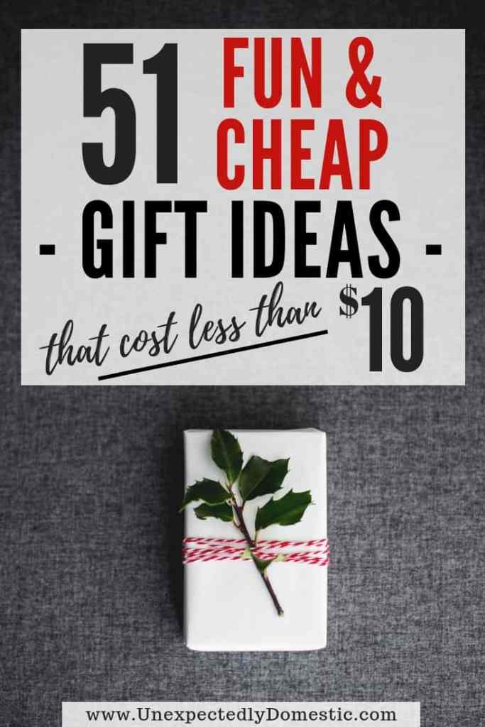 If you're looking for cheap gift ideas, look no further than this list of 51 gift ideas under $10! These $10 gift ideas are perfect when you're on a budget.