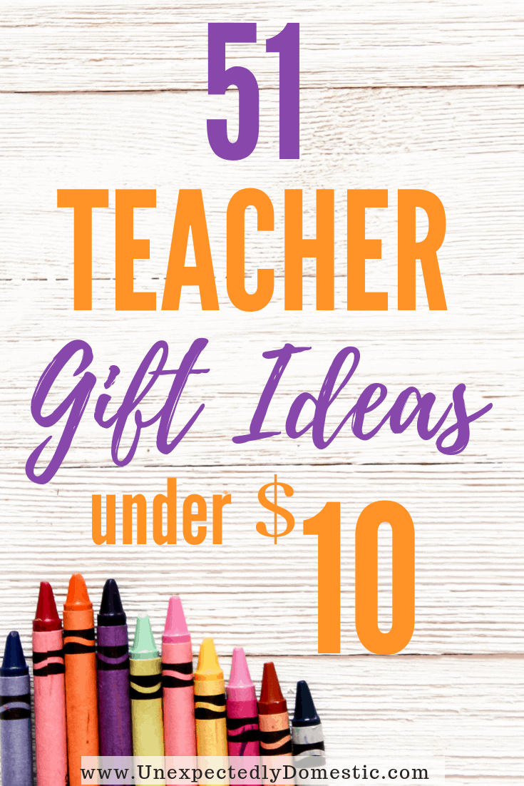 If you're looking for cheap gift ideas, look no further than this list of 51 gift ideas under $10! These $10 teacher gift ideas are perfect when you're on a budget.