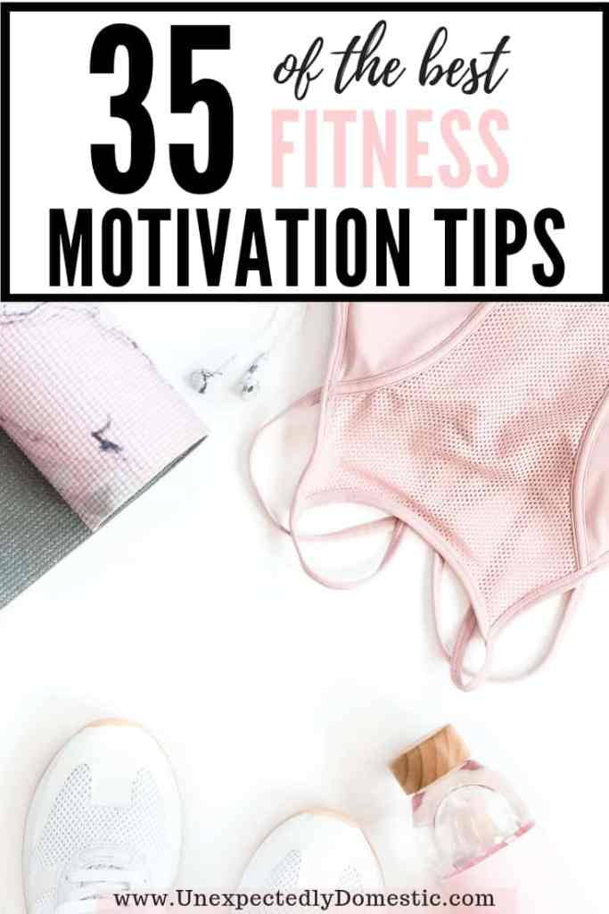 Do you find yourself wondering 'how can I stay motivated to exericse?' These 35 workout motivation tips are for you! Enjoy some motivation to exercise!