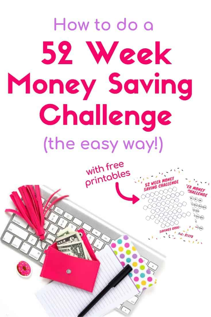 image relating to Savings Printable called 15 52 7 days Funds Conserving Troubles (one thing for each individual