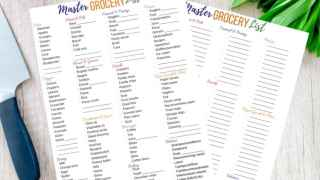 How to Use a Master Grocery List (to save your time and sanity!)