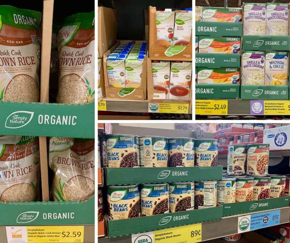 Check out the full list of Aldi organic products! Find out the truth about Aldi, why Aldi food is so cheap, and the organic products they carry.