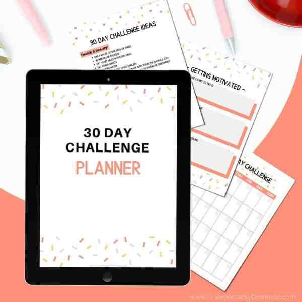 30 day challenge planner
