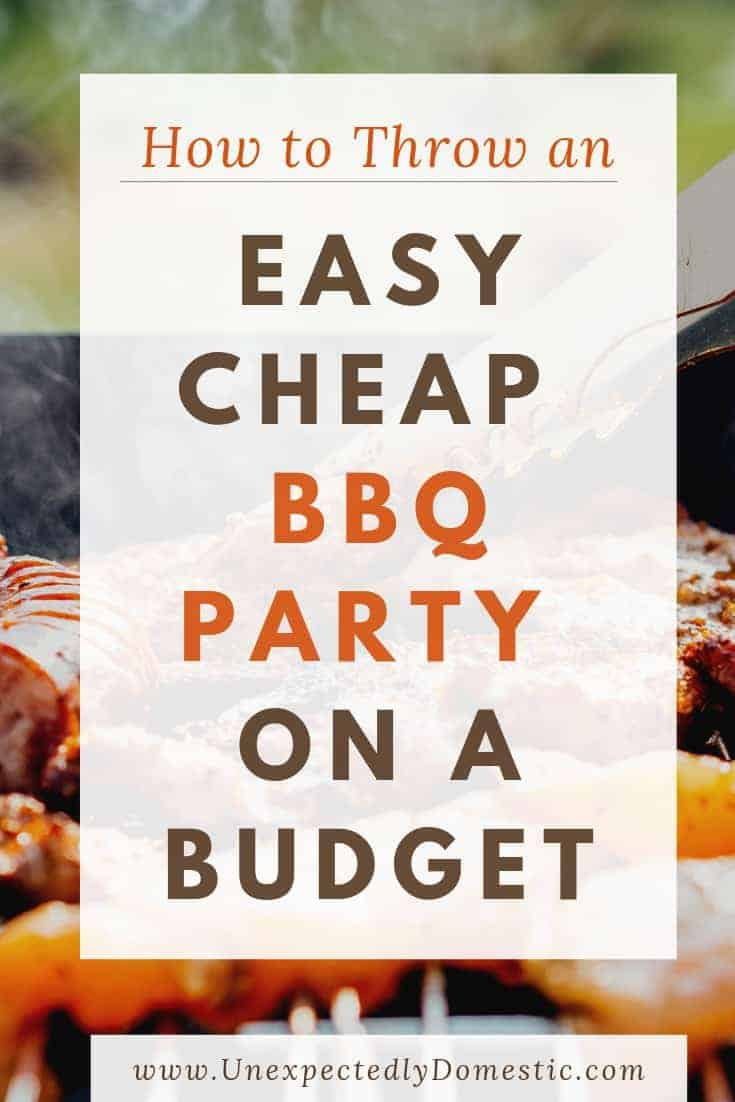Use these cheap BBQ ideas to throw a summer cookout party on a budget. Summer entertaining can be inexpensive, even with a large group, when grilling out!