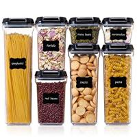Airtight Food Storage Containers (with 24 chalkboard labels and marker)
