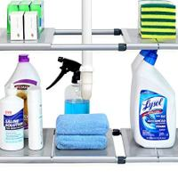 Under Sink 2-Tier Expandable Shelf Organizer Rack