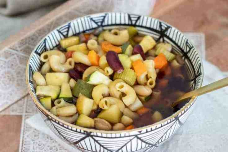 Minestrone Soup in the Crockpot
