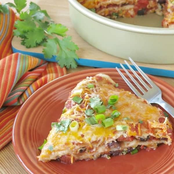 Stacked Burrito Pie Casserole