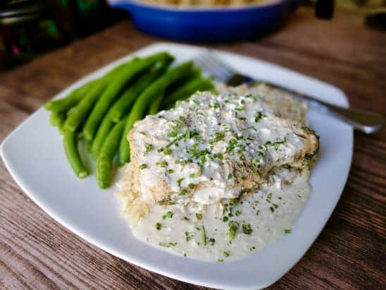 Slow Cooker Creamy Ranch Pork Chops (Clean Eating)