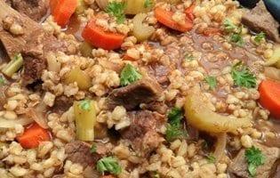 Crock Pot Beef Barley Soup