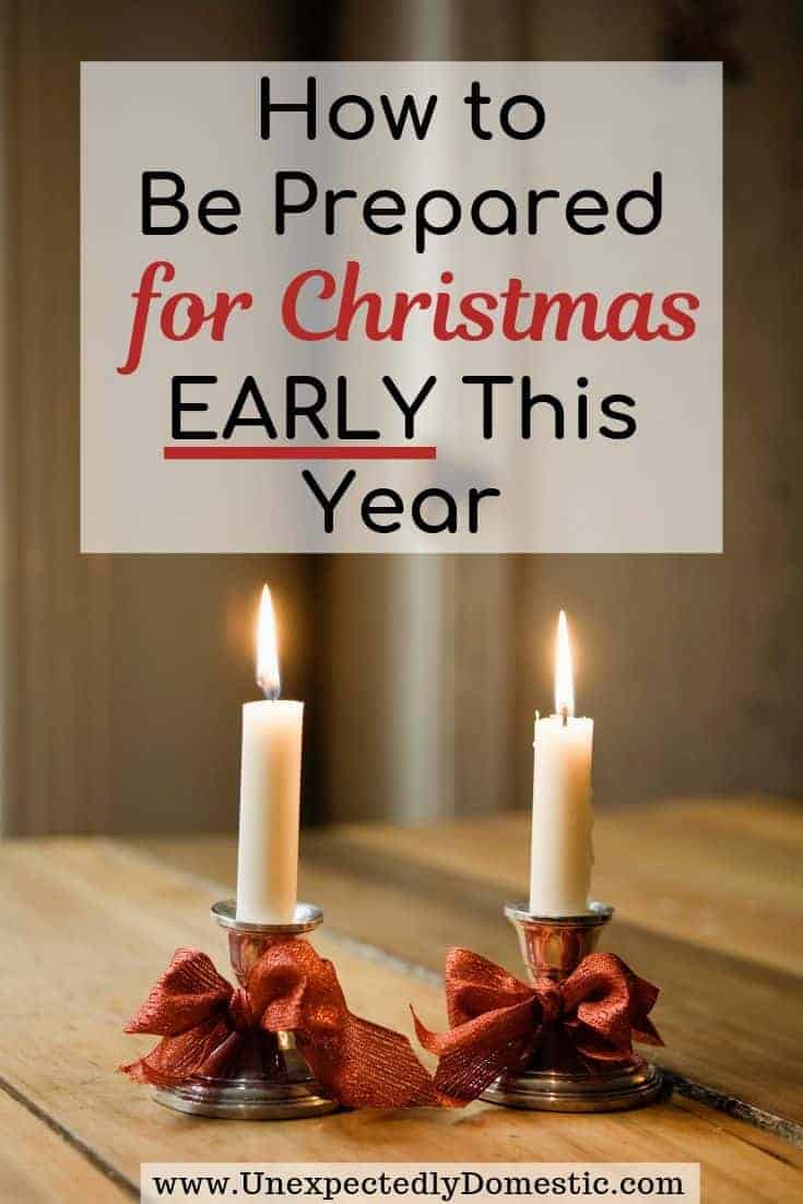 How to get ready for Christmas early so you can be more organized! 19 Christmas preparation ideas to enjoy a stress free holiday this year.