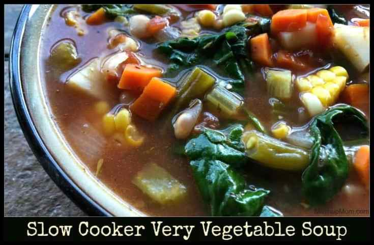 Slow Cooker Very Vegetable Soup