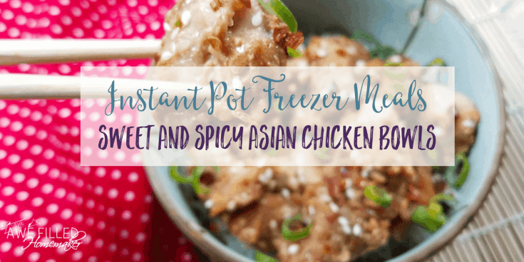 (Instant Pot) Sweet and Spicy Asian Chicken Bowls