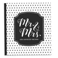 Mr. and Mrs. Recipe Card Holder