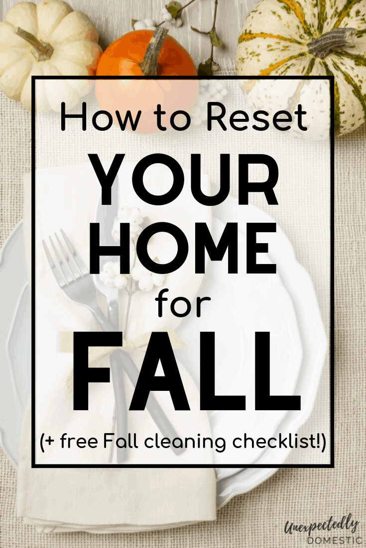 Use this fall cleaning checklist printable to get your home ready for Fall! Stay on top of your seasonal cleaning housework with these easy tips.