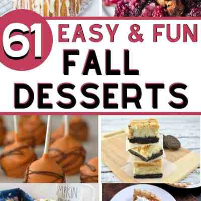 61 Easy Fall Dessert Recipes You've Got to Try This Year
