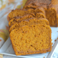 Vegan Blender Pumpkin Bread